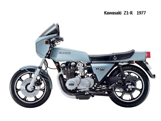 The 1977 Kawasaki Z1 - A big part of Kawasaki's development.