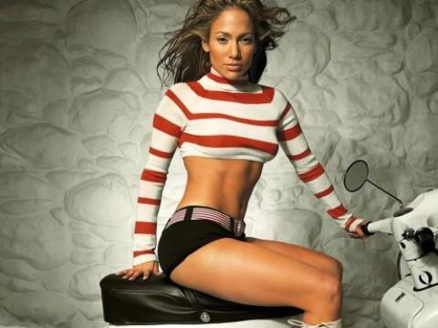 Jennifer Lopez on a motorbike.....nothing more to say!