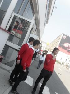 Ducati staff uniform at the ducati factory bologna