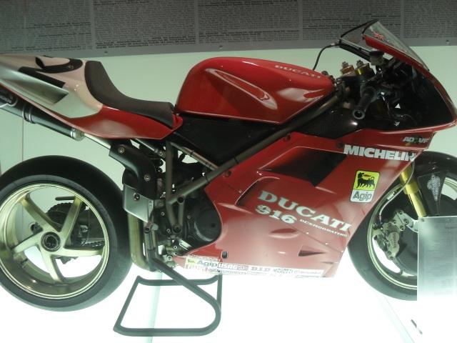 Ducati 916 at the Ducati Factory in Bologna