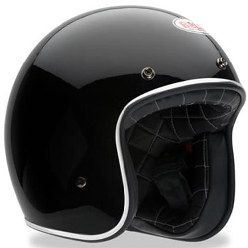 Bell Open Face Black Vintage Helmets