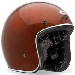 Orange Open Face Vintage Helmet by Bell