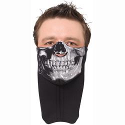 Halloween motorcycle face mask - skull