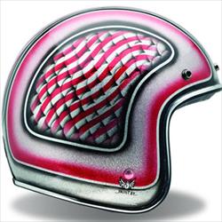 Bell Vintage Open Face Helmet (pink and purple american flag design)