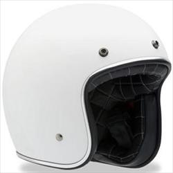 Bell Retro/vintage open Face helmet in White