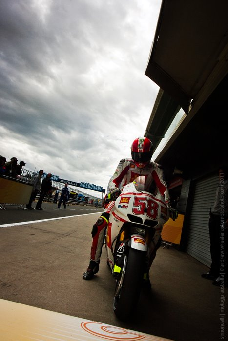 Marco Simoncelli 58 Qualifying in the 2011 Motogp