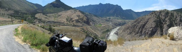 motorcycle touring on the famous road called highway 12