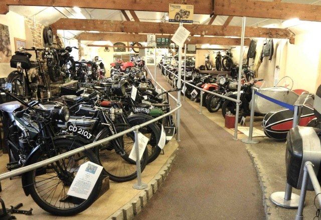 an image from some of the triumph classic motorcycles on show at the London Motorcycle Museum