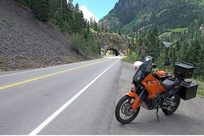 a KTM ready to ride on the roads of Colorado