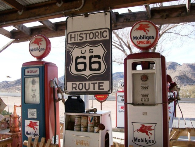 A typical Route 66 gas station